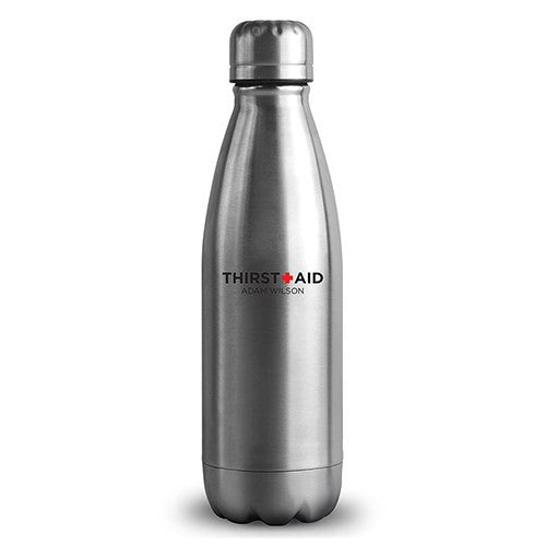 Central Park Travel Bottle - Matte Silver - Thirst Aid Printing