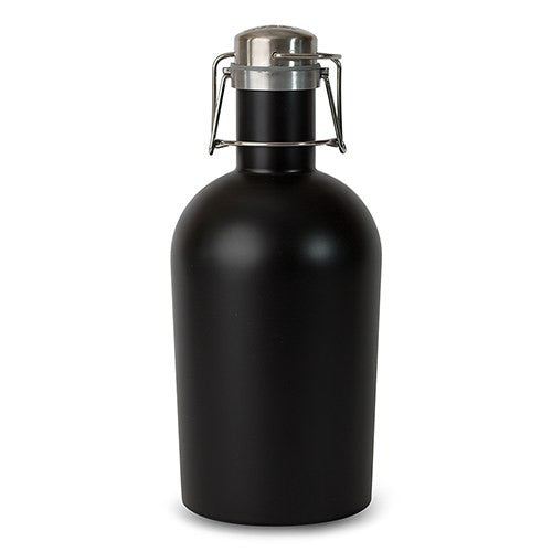 Stainless Steel 64 oz Beer Growler - Black