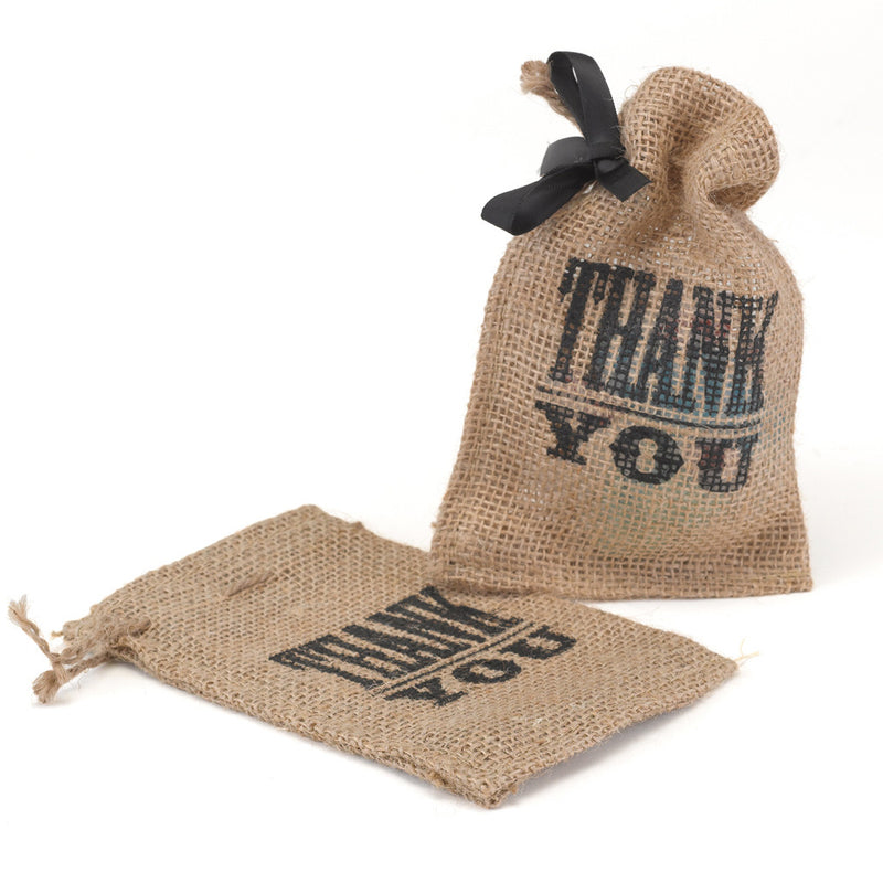 Thank You Burlap Party Favor Bag
