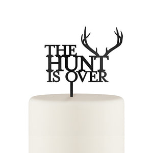 The Hunt Is Over Wedding Cake Topper