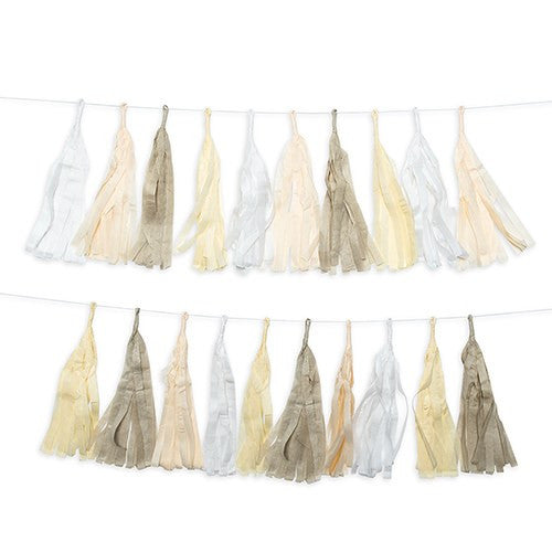 Pastel Tissue Paper Tassel Party Garland