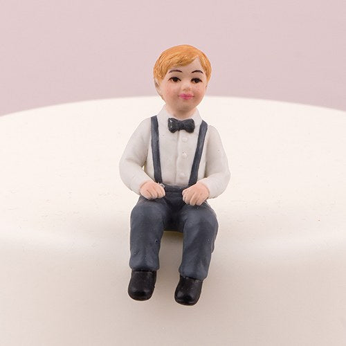 Boy Toddler Child Porcelain Wedding Cake Topper