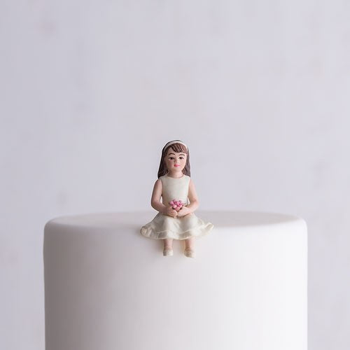Toddler Girl Child Porcelain Wedding Cake Topper