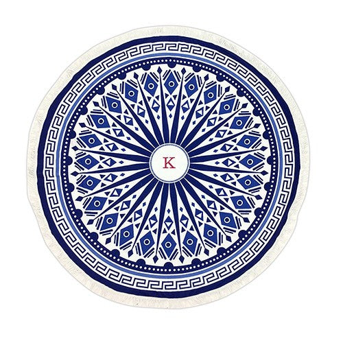 Personalized Tribal Bohemian Round Beach Towel