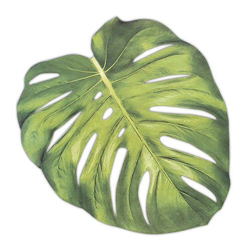 Tropical Leaf Paper Placemat Sheet (Pack of 12)