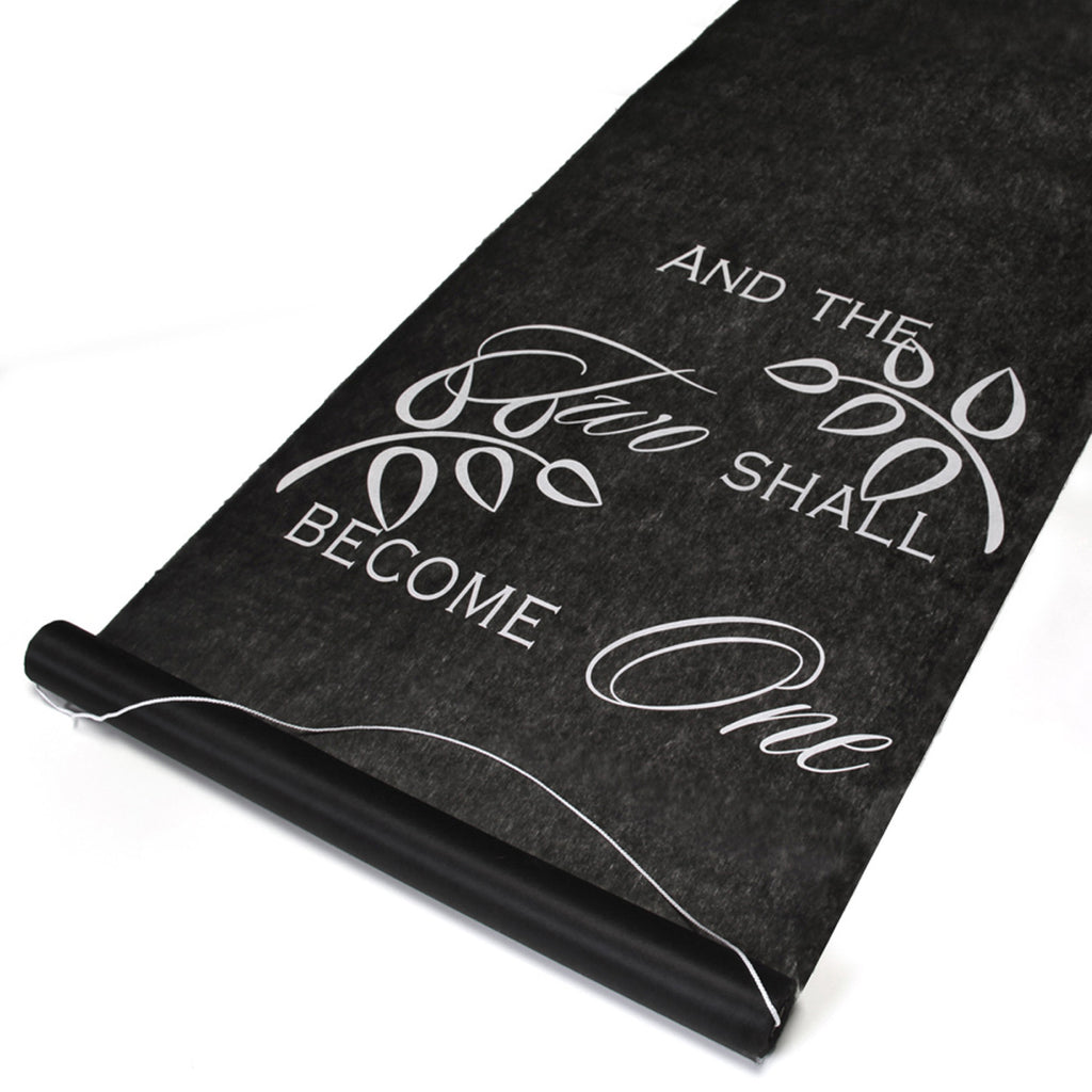 And Two Shall Become One Wedding Aisle Runner