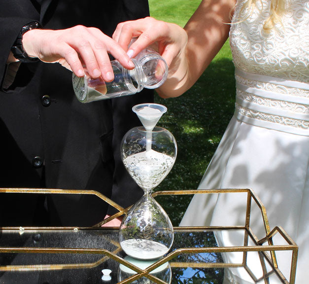 Unity Sand Hourglass Ceremony Set with Sand