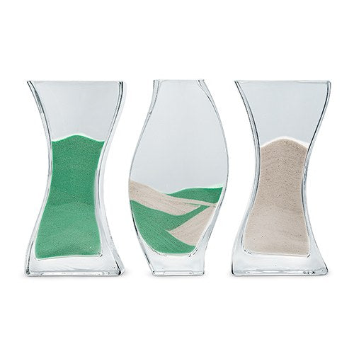 Unity Sand Wedding Aisle Ceremony Nesting - 3 Piece Vase Set