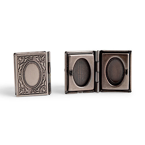 Vintage Locket Style Cufflinks Silver