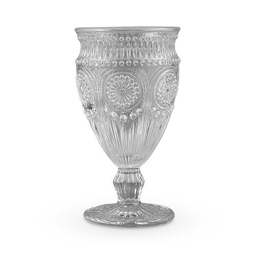 Vintage Pressed Glass Wedding Party Goblet