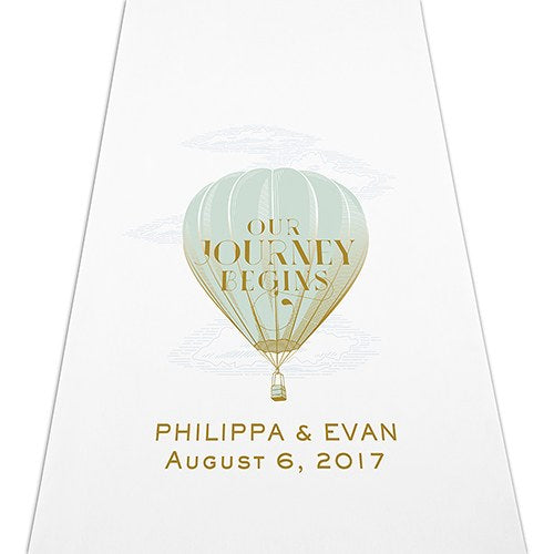 Destination Wedding Hot Air Balloon Personalized Aisle Runner