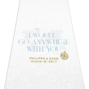 Compass Personalized Destination Wedding Aisle Ceremony Runner