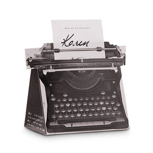 Vintage Typewriter Wedding Party Favor Box Kit (Pack of 10)