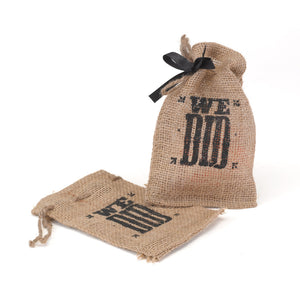 We Did Burlap Party Favor Bag