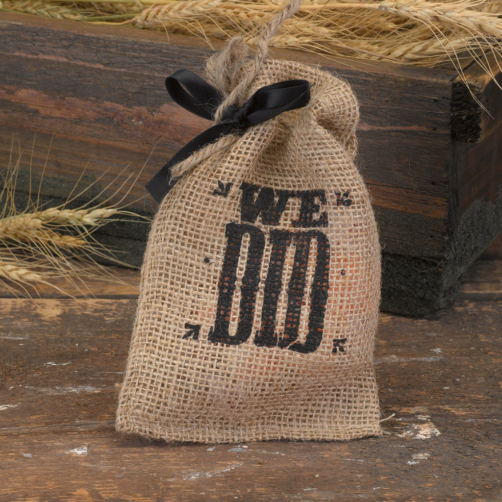 We Did Burlap Wedding Favor Bag