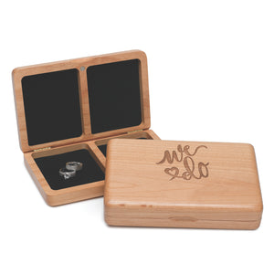 We Do Wedding Anniversary Wooden Ring Box