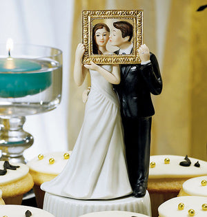 Picture Perfect Couple Wedding Cake Top