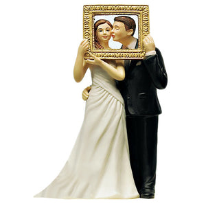 Wedding Cake Top - Picture Perfect Romantic Couple - Light Skin Tone