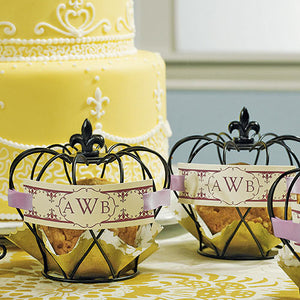 Wedding Favor - Small Wire Crown Cupcake Covers