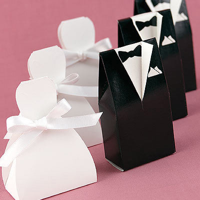 Bridal Gown Wedding Favor Box (Groom sold separately)