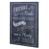 Chalkboard Canvas Wedding Ceremony Seating Sign