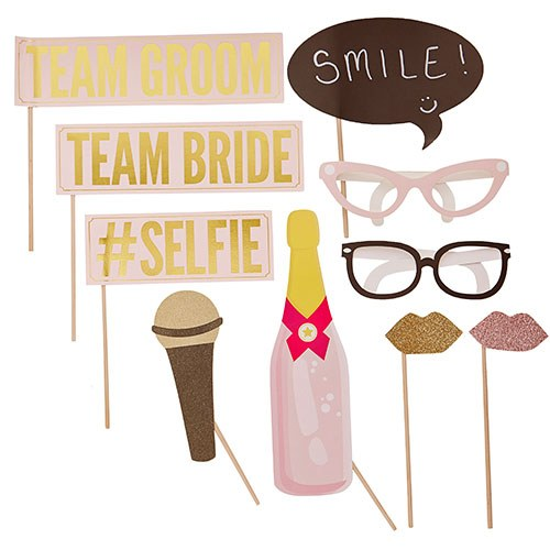 Wedding Team Photo Booth Prop Set