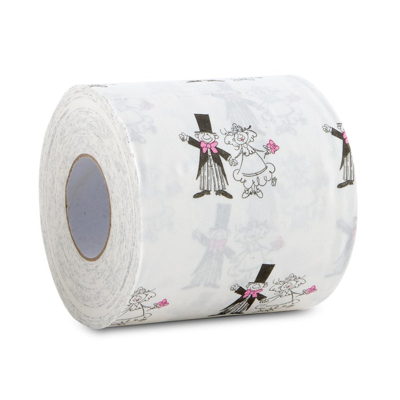 Whimsical Bride and Groom Wedding Toilet Paper (Pack of 2)