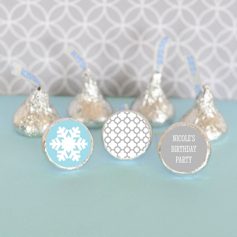 Personalized Winter Themed Hershey's® Kisses Labels Trio (set of 108)