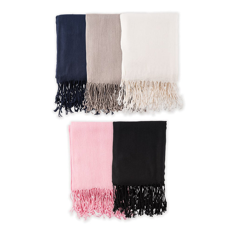 Women's Personalized Pashmina Scarf with Script Initial