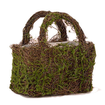 Moss and Wicker Woodland Wedding Flower Girl Basket