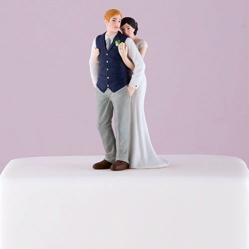 A Sweet Embrace Wedding Cake Topper