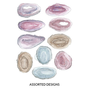 Personalized Agate Rock Diecut Stationery Card Set