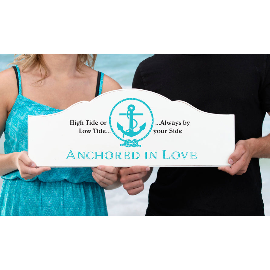Anchored In Love Wedding Sign
