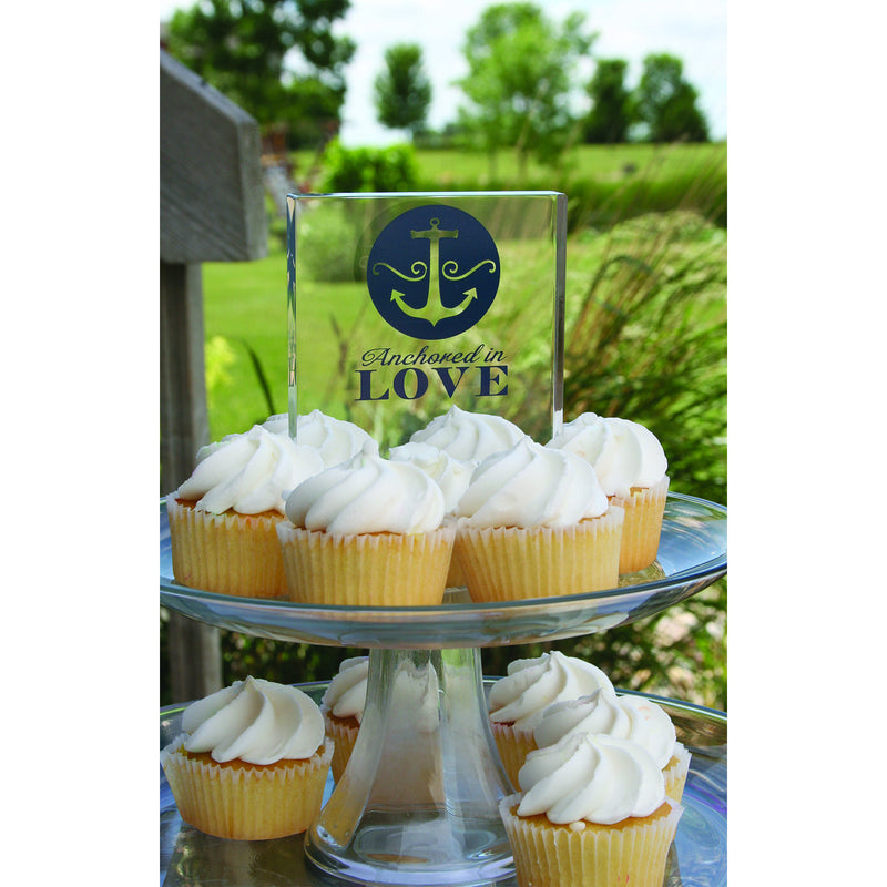 Boat Anchor Wedding Themed Cake Topper with Cupcakes