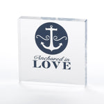 Nautical Anchor Wedding Themed Cake Topper