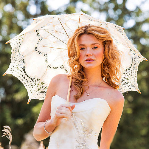 Antique Styled Lace Wedding Parasol