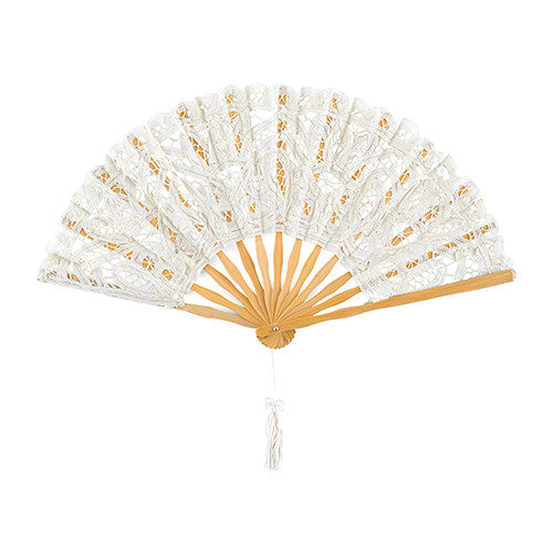 Antiqued Lace Hand Fan