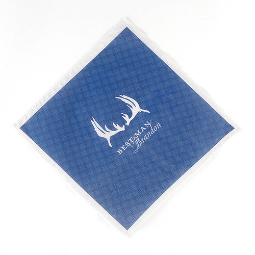 Personalized Best Man Plaid Handkerchief