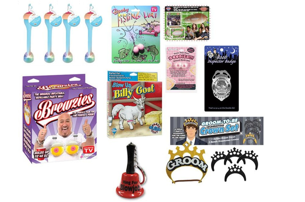 Bachelor Party 12-Piece Gag Gift Funny Party Package
