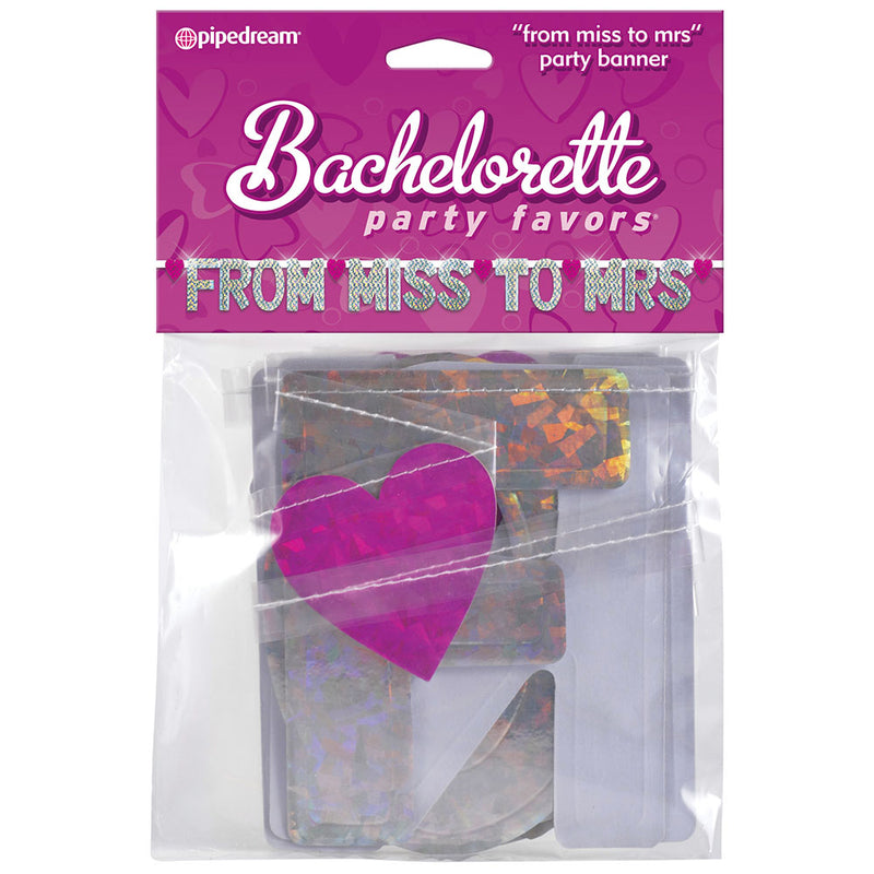 Bachelorette Party Decoration - From Miss to Mrs. Banner