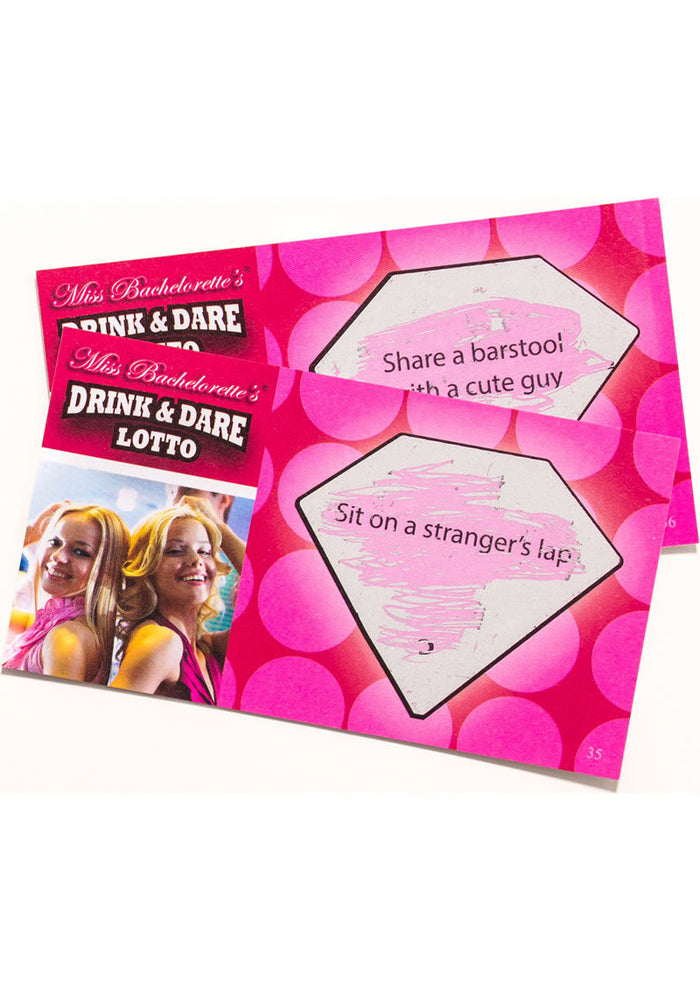 Miss Bachelorette Drink and Dare Lotto Game