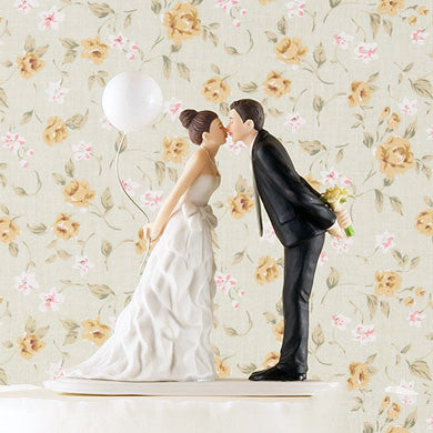 Bride, Groom + Balloon Wedding Cake Topper