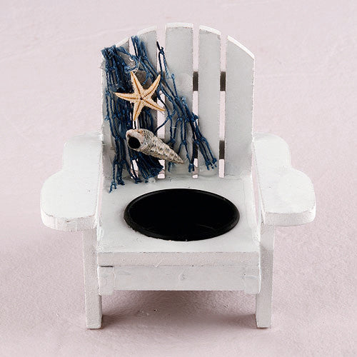 Wooden Beach Deck Chair Candle Holders