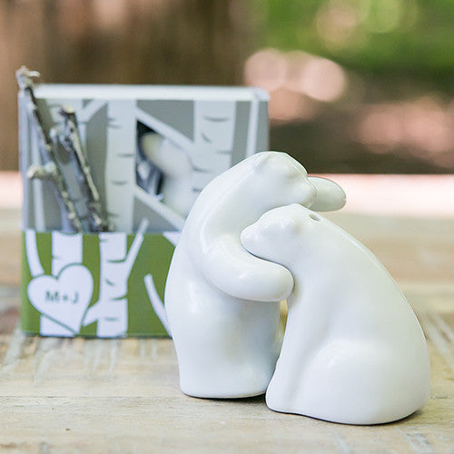 Wedding Favor Bear Salt and Pepper Shakers