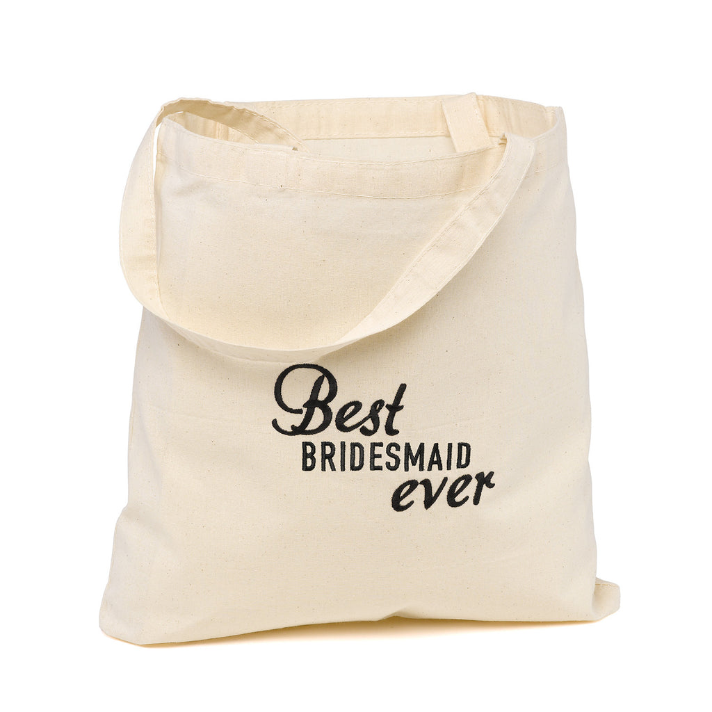 Best Ever Bridesmaid Wedding Party Tote Bag