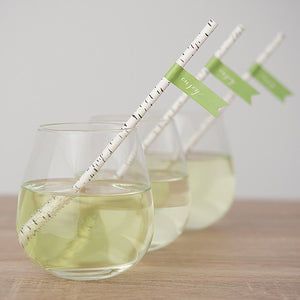 Birch Bark Print Paper Straws (pack of 25)