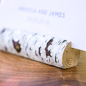 Birch Tree Log Place Card Holders (Pack of 6)