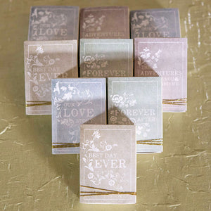 Book Themed Wedding Favor Kit (Pack of 8)