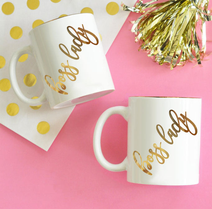 Boss Lady Gold Print Coffee Mug