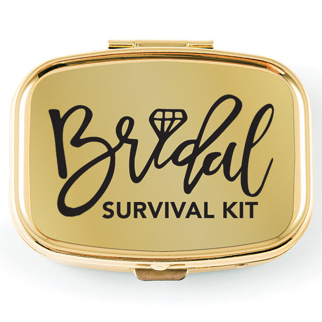 Gold Bridal Survival Pocket/Purse Pill Hangover Box